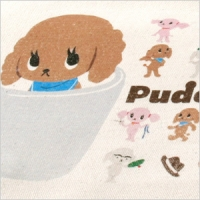 PUDEL POODLE ミニトート<br>【プードル/雑貨/バッグ/カバン/かばん/グッズ/犬/ドッグ】