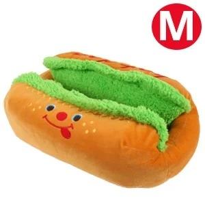 ホットドッグカドラーM【クッション】【ベッド】 犬/ドッグ/マット/ラウンド型/カドラー/小型犬/冬用/秋用