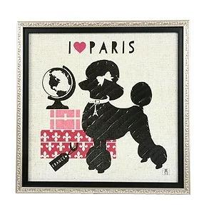 プードルアートフレーム スタジオムソー パリ ポーチ 犬 ドッグ