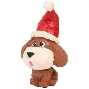 カービングDog クリスマス トイプードル プードル トイプードル 雑貨置物 オーナメント クリスマス xmas オーナー雑貨 インテリア オブジェ 彫刻